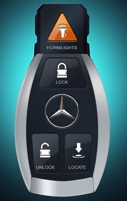 mercedes app unlock car with out a key