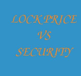 Lock Price VS Security