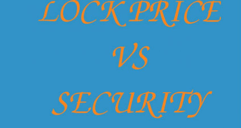 Lock Price VS Security