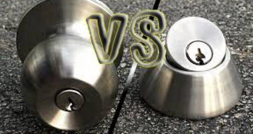 deadbolt vs. door knob - Naples Locksmith 24:7
